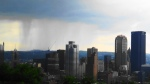 Impending rain over the Pittsburgh Skyline