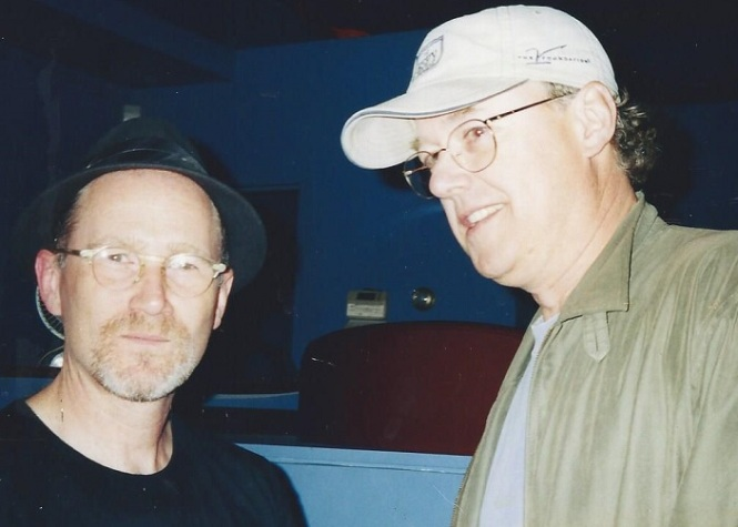 You can't see it, but Dad's giving Marshall Crenshaw a calm, manly handshake